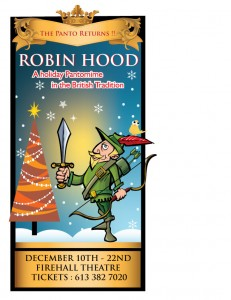 robin hood pantomime 2010 firehall theatre gananoque thousand islands