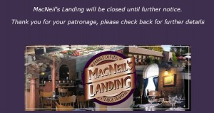 macneils landing gananoque 1000 islands restaurant closed