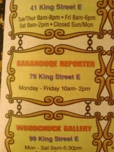 gananoque Gananocquay gananockway reporter spelling spellcheck