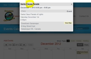 santa clause clause gananoque downtown bia website