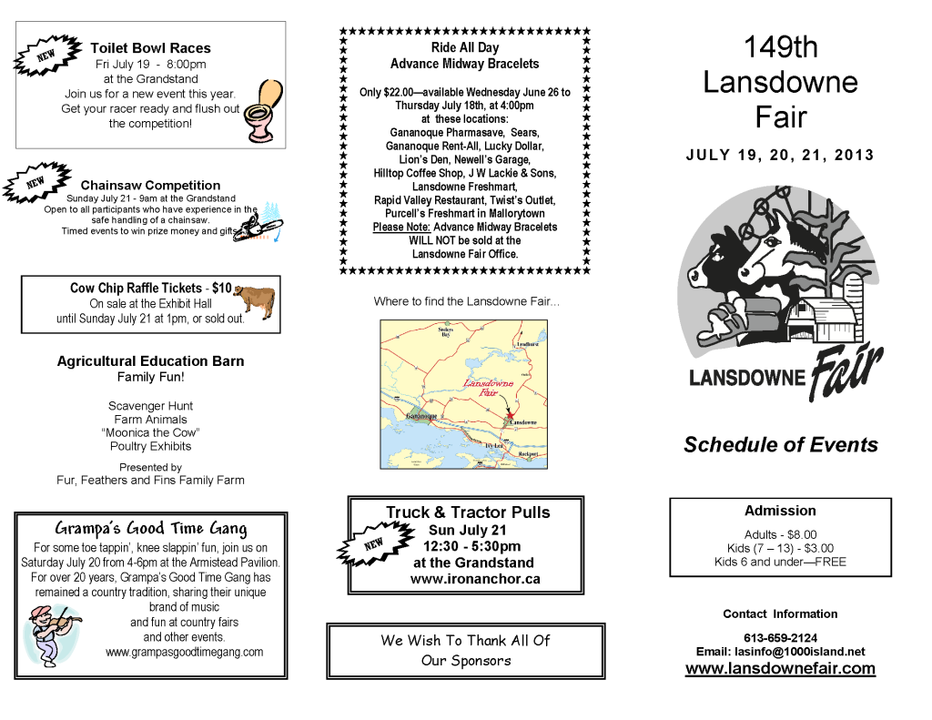 lasdown lansdown fair schedule events 2013