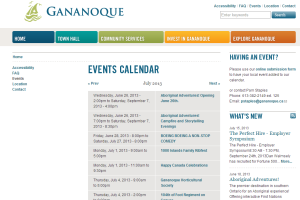gananoque 1000 islands thing to do events