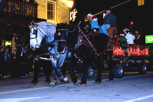 parade gananoque xmas santa downtown