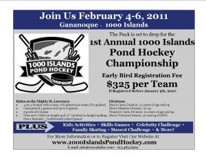 pond hockey curling gananoque inn st.lawrence river ice winter activities