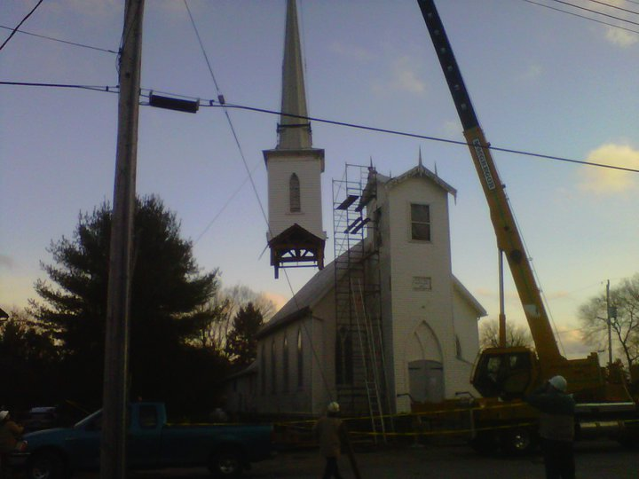 seeleys bay church spire restoration le blancq