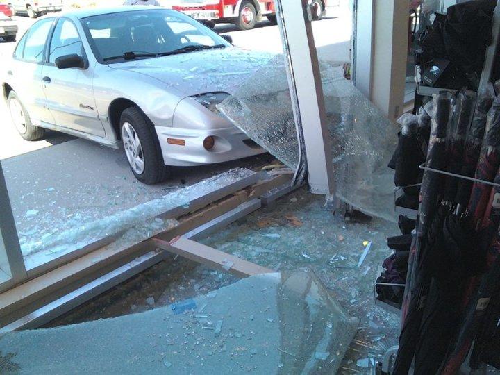 shoppers drug mart gananoque car drove through window