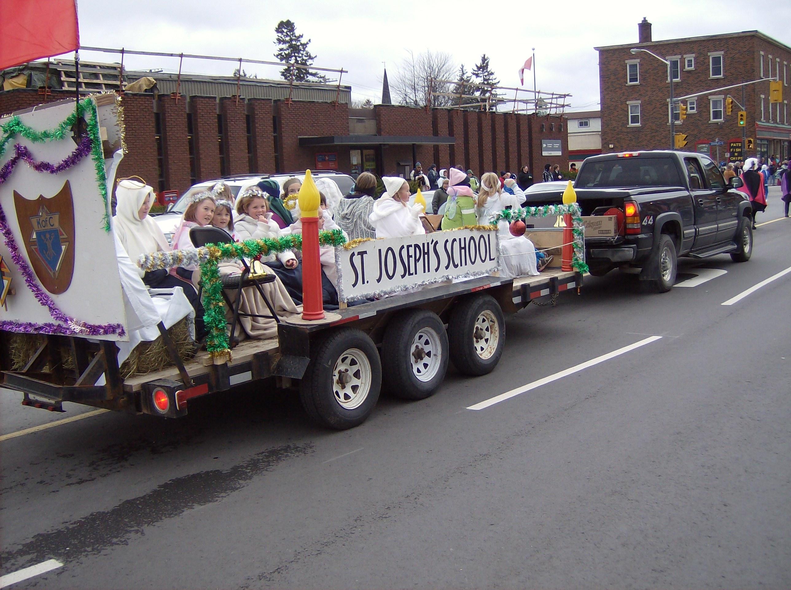gananoque christmas xmas santa clause parade