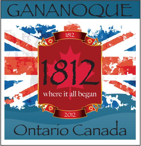 gananoque town bicentennial 1812 logo