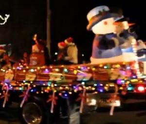 gananoque downtown xmas santa parade